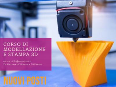 Corso Stampa 3D: nuovi posti disponibili